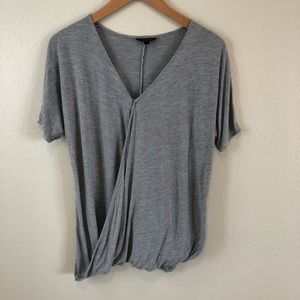 Topshop Gray short sleeve shirt size 6
